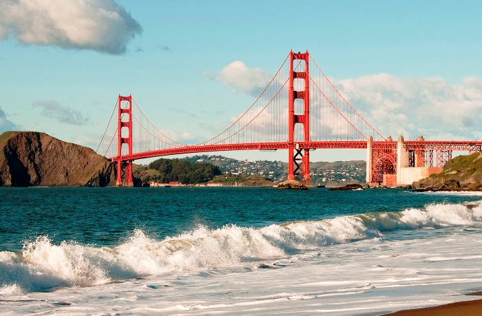 Baker Beach, Golden Gate Bridge, San Francisco, California, USA. Photo copyright Lee Foster. Photo # california108828